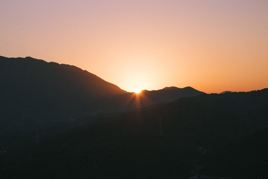 井野山からのご来光