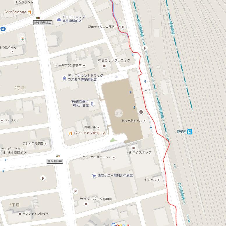 博多南駅周辺の境界線