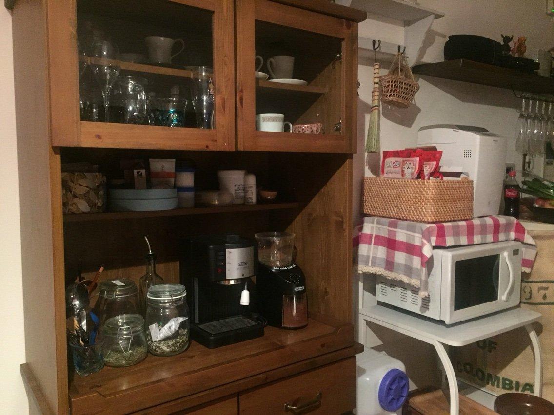お気に入りのunicoの食器棚