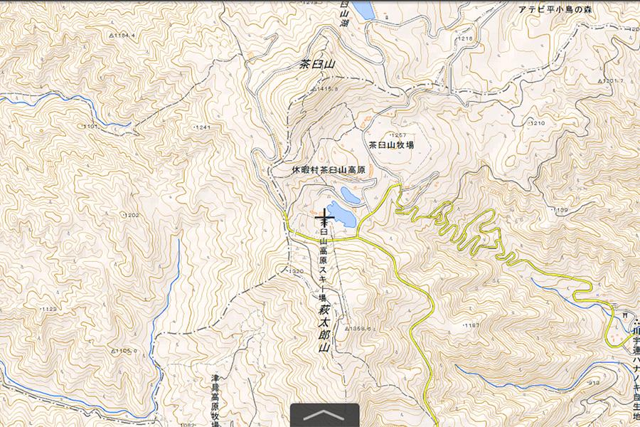 茶臼山高原スキー場周辺地図
