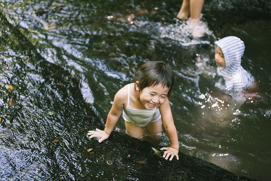 所々に小さなプール