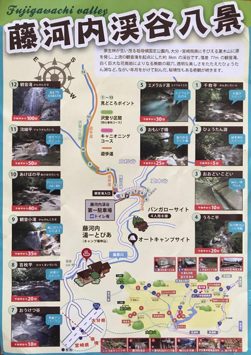 藤河内渓谷八景マップ