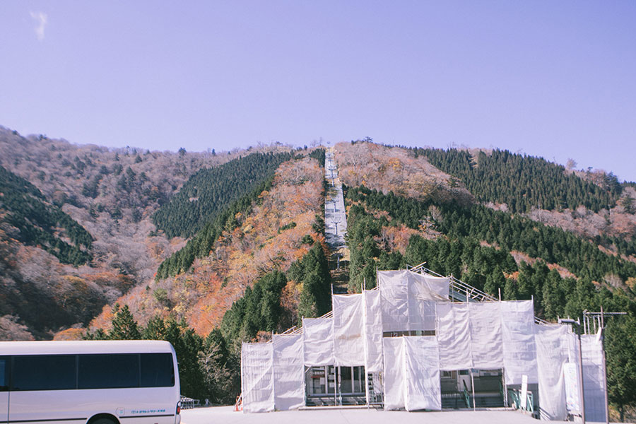 五ヶ瀬ハイランドスキー場の駐車場