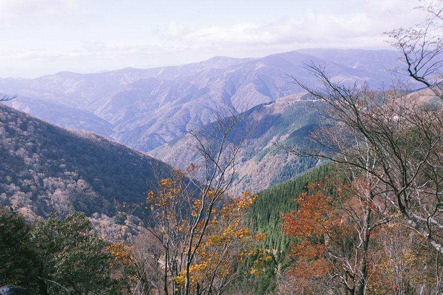 烏帽子岳方面の眺望