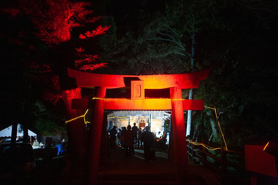 裂田神社のライトアップ
