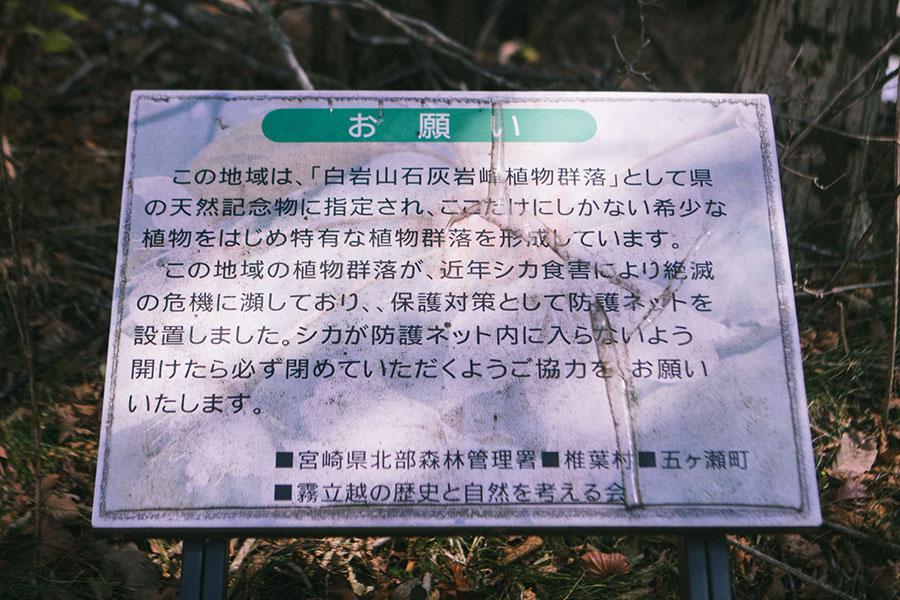 鹿の食害対策協力のお願い