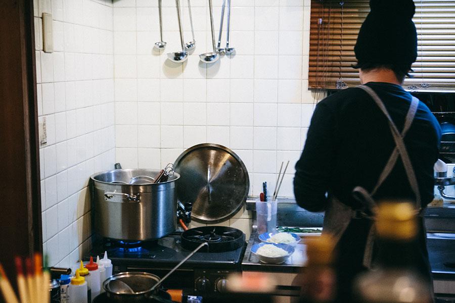 家庭用ガスコンロで調理