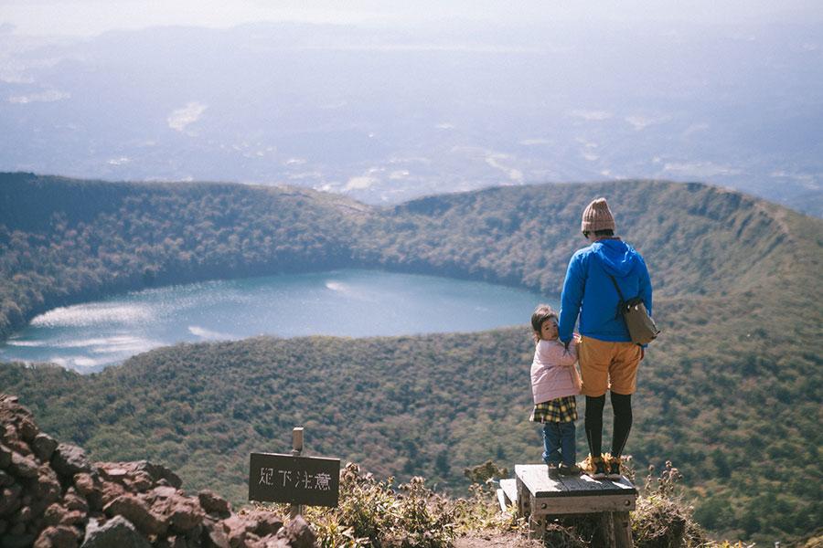 韓国岳山頂直下の木道最終地点