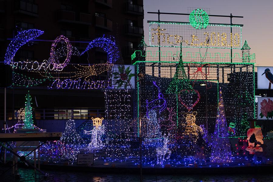 駅前広場のクリスマスイルミネーション