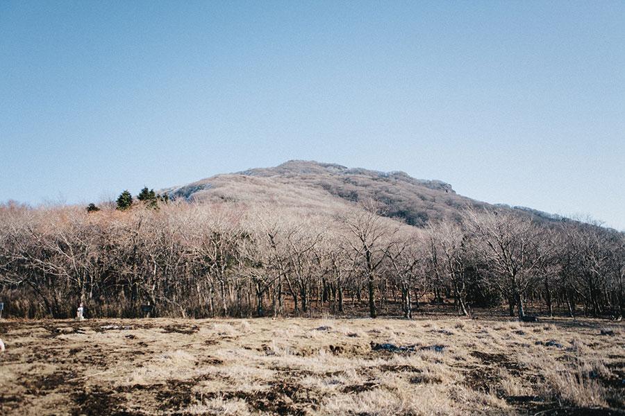 国観峠から望む祖母山