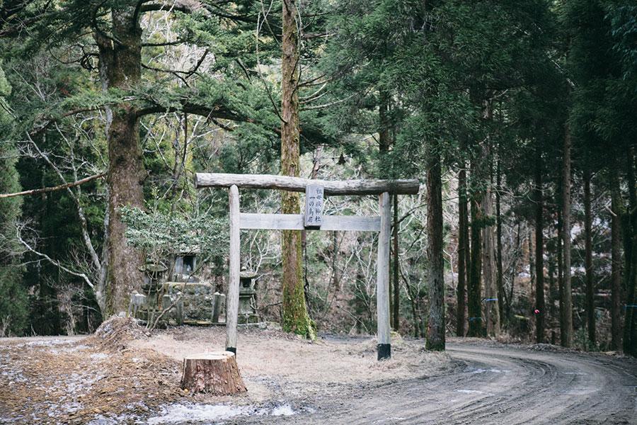 祖母嶽神社一の鳥居