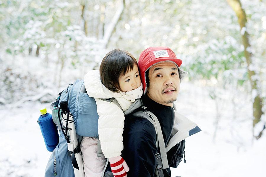 娘とぼくと雪山