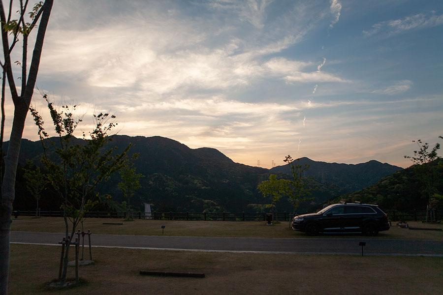 五ケ山クロスキャンプ場からの夕焼け