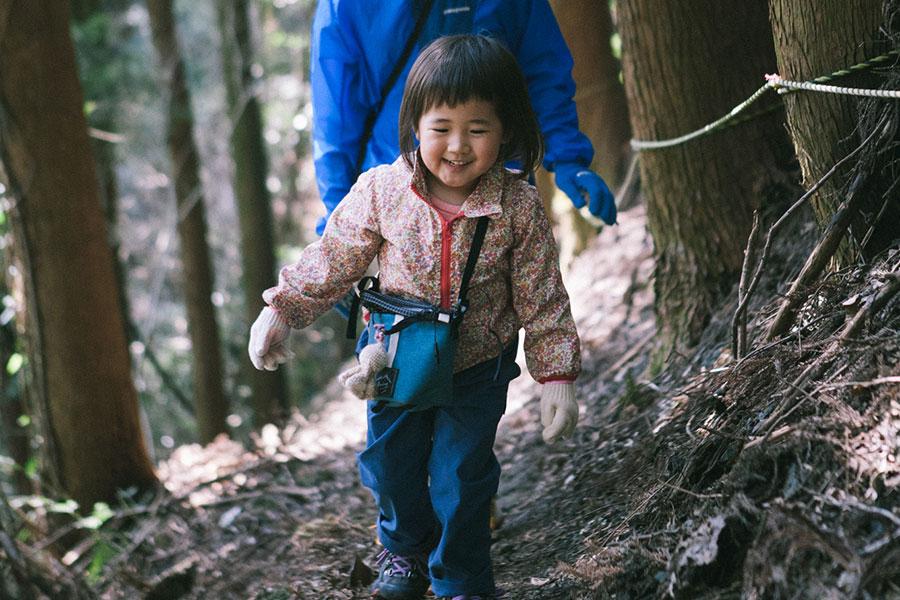 3歳児の山登り