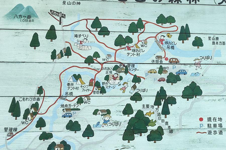 矢谷渓谷場内マップ