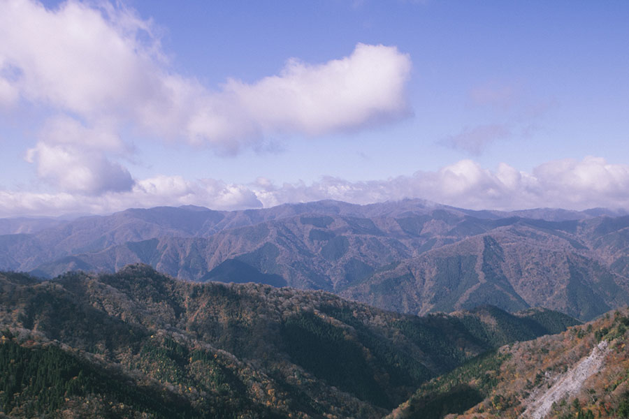 白岩山山頂からの眺望