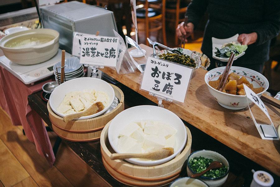 バイキングのお豆腐