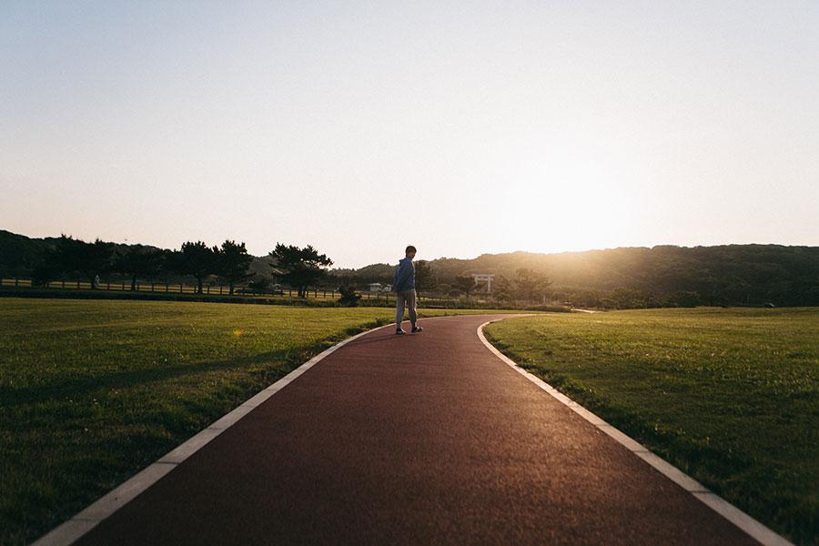 ジョギングロードをお散歩
