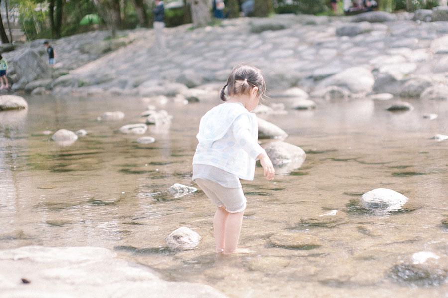 小さな子も安心の浅瀬