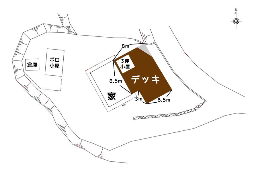 平面図(デッキ構想)