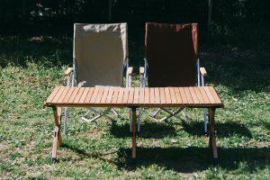 コスパ最強!オシャレなウッド仕様のロールトップテーブルはハイランダーで決まり!